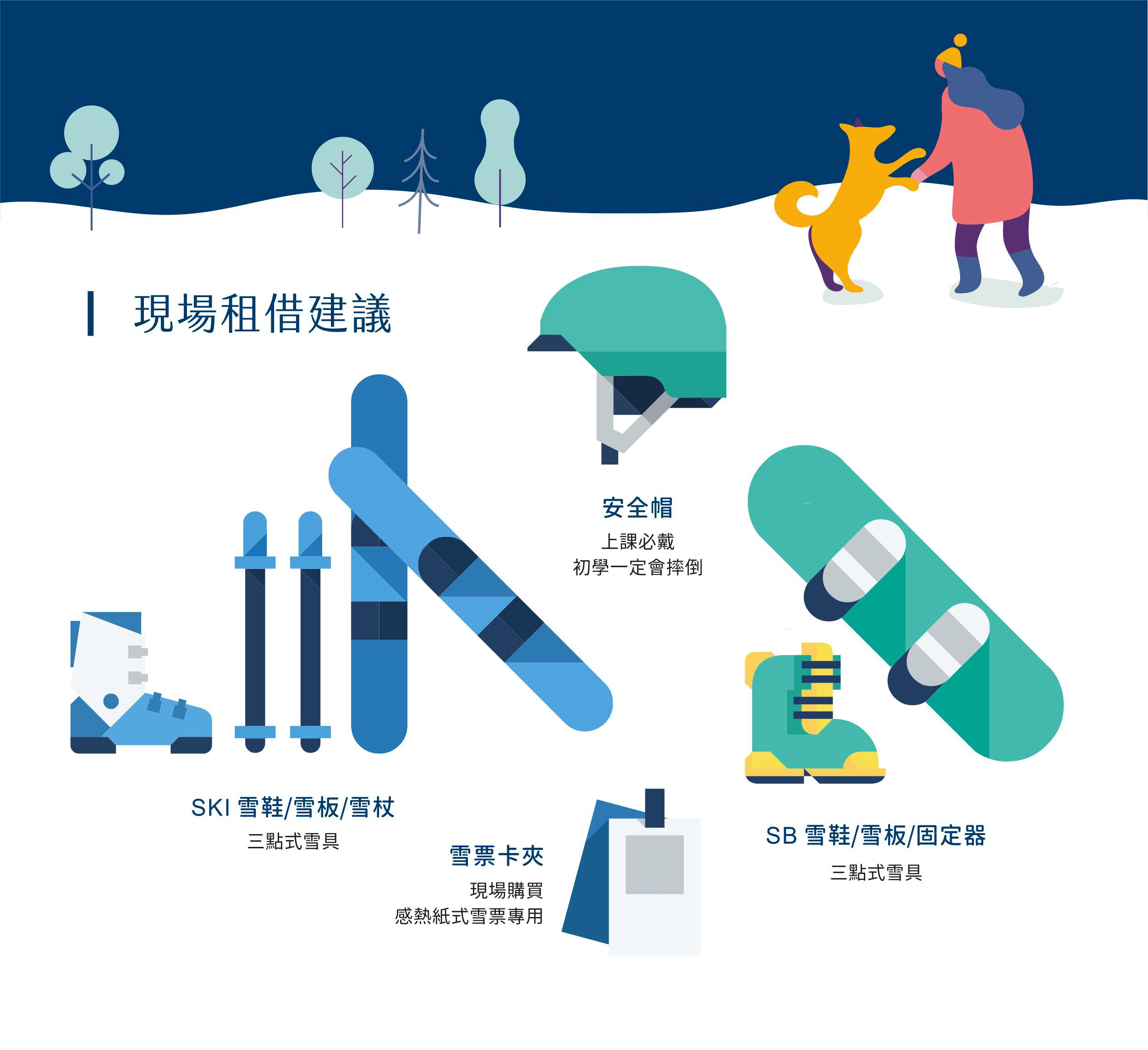 滑雪自備用品